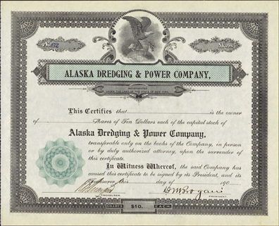 190_ ALASKA DREDGING AND POWER COMPANY