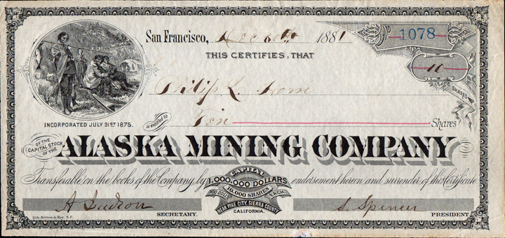 Old West History Store Antique Western Gold Mining Stock