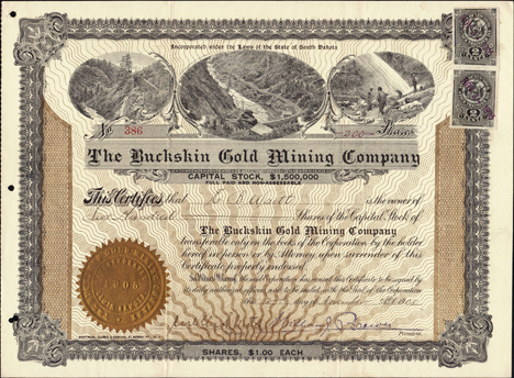 1905 THE BUCKSKIN GOLD MINING COMPANY - Nevada