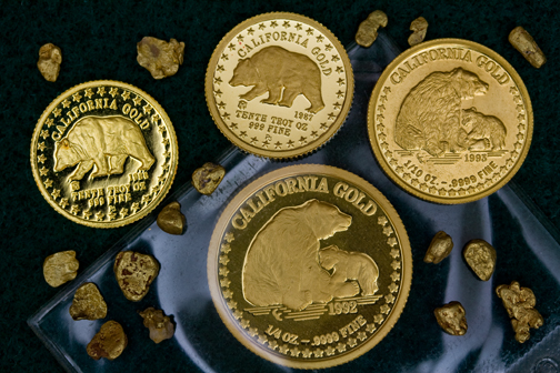 California Pure Gold Coins - Grizzly Bear