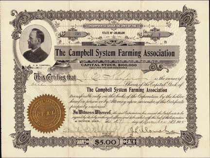 1905 THE CAMPBELL SYSTEM FARMING ASSOCIATION - Denver, Colorado