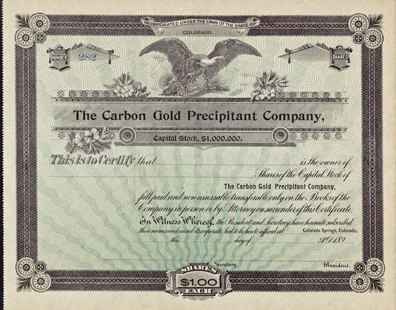 189_ THE CARBON GOLD PRECIPITANT COMPANY