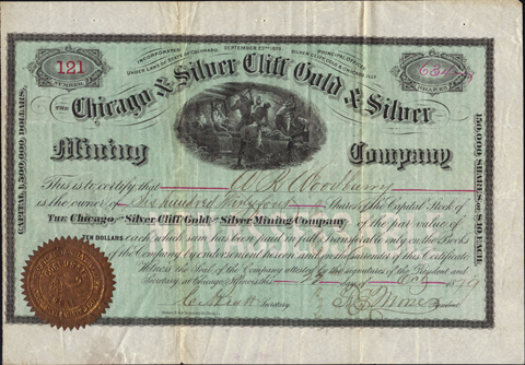 1879 THE CHICAGO AND SILVER CLIFF GOLD AND SILVER MINING COMPANY - Custer County, Colorado