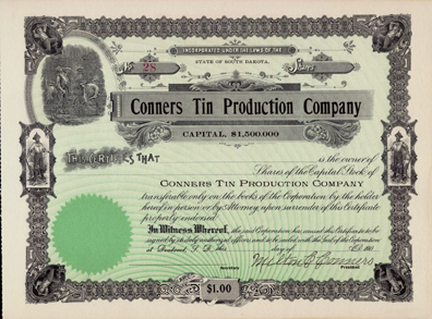 190_ CONNERS TIN PRODUCTION COMPANY