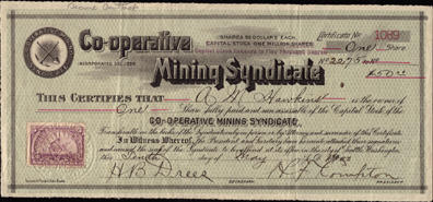 1900 CO-OPERATIVE MINING SYNDICATE