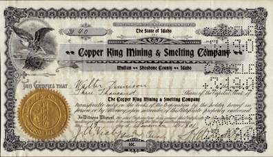 1901 COPPER KING MINING & SMELTING COMPANY