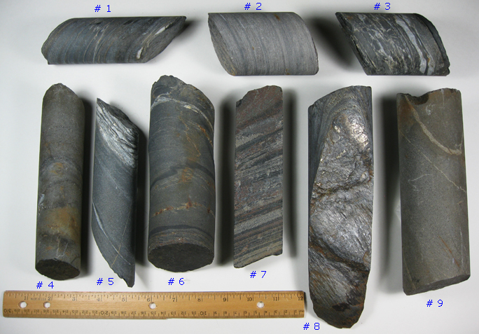 HOMESTAKE GOLD MINE CORE SAMPLES