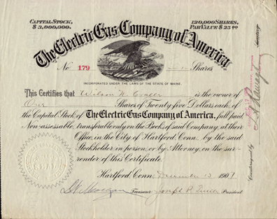 1907 THE ELECTRIC GAS COMPANY OF AMERICA