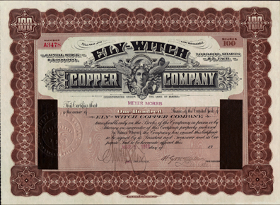 1916 ELY WITCH COPPER COMPANY