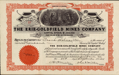 1905 THE ERIE GOLDFIELD MINES COMPANY