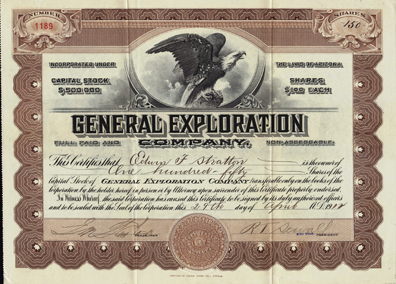 1912 GENERAL EXPLORATION COMPANY - Arizona