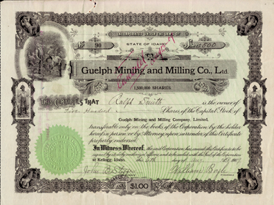 1909 GUELPH MINING & MILLING COMPANY