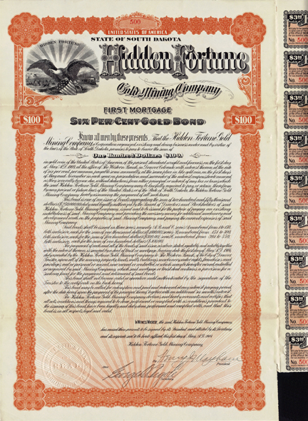 1904 HIDDEN FORTUNE GOLD MINING COMPANY - Lead City, South Dakota