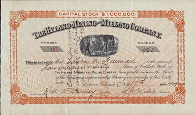 1904 THE HYLAND MINING & MILLING COMPANY