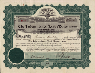 1917 THE INDEPENDENCE LEAD MINES, LIMITED