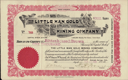1901 THE LITTLE MAN GOLD MINING COMPANY - Cripple Creek, Colorado