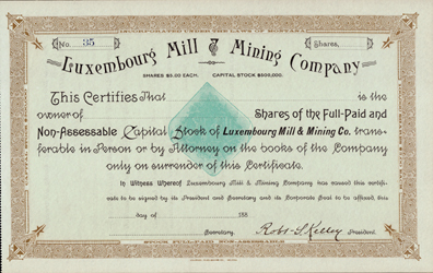 188_ LUXEMBOURG MILL & MINING COMPANY