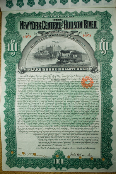 1898 NEW YORK CENTRAL AND HUDSON RIVER RAILROAD COMPANY