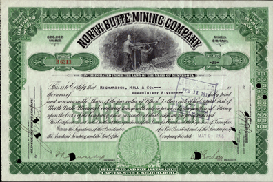1918 NORTH BUTTE MINING COMPANY