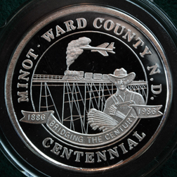 MINOT, NORTH DAKOTA Silver Commemorative Round