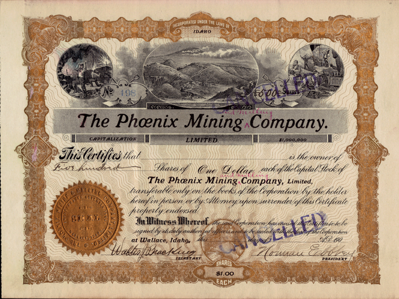 Idaho Mining Stock Certificates - Page 2