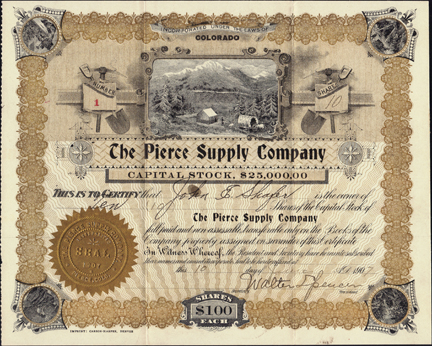 1907 THE PIERCE SUPPLY COMPANY - Weld County, Colorado
