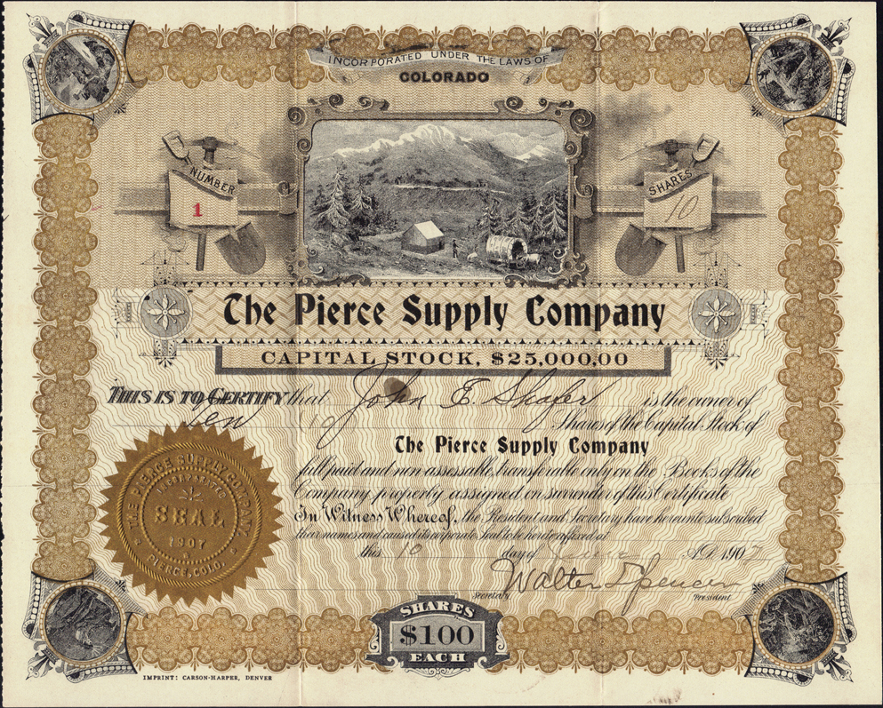 Colorado mining stock certificates page 2 1betcityfo Images