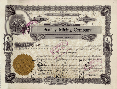 1926 STANLEY MINING COMPANY