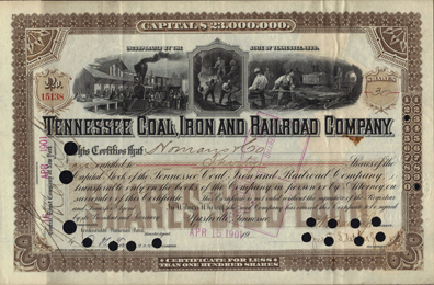 1901 TENNESSEE COAL, IRON AND RAILROAD COMPANY