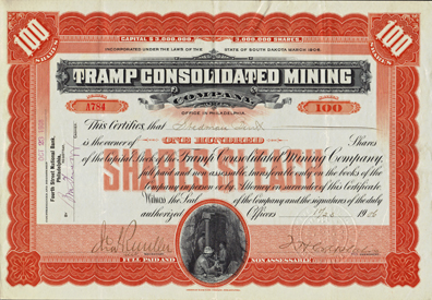 1906 TRAMP CONSOLIDATED MINING COMPANY -  Bullfrog Mining District, Nevada