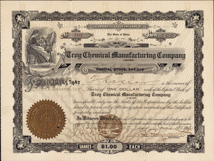 1908 TROY CHEMICAL MANUFACTURING COMPANY - Troy, Idaho - Latah County