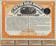 1896 VICTOR GOLD MINING COMPANY - 5 Shares